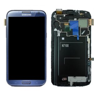Samsung Galaxy Note 2 Blue LCD Screen
