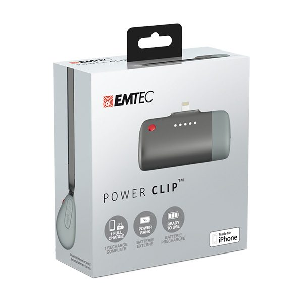 EMTEC Power Clip Small Power Bank for Apple iPhones