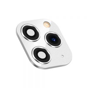 For iPhone 11 Pro Replacement Camera Lens With Frame And Sticker White