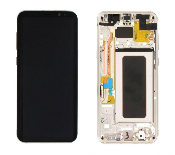 Samsung Galaxy S8 Plus G955 LCD Screen Service Pack Gold