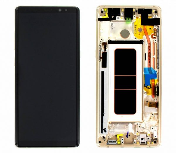 Samsung Galaxy Note 8 Gold LCD Screen Service Pack