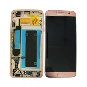 Samsung Galaxy S7 Edge G935 LCD Screen Service Pack Pink Gold