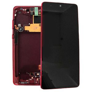 Samsung Galaxy Note 10 N970 LCD Screen Service Pack Aura Red