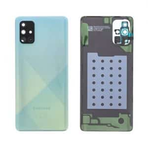Samsung Galaxy A71 battery back cover blue