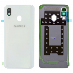 Samsung Galaxy A40 White battery back cover