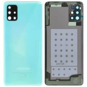 Samsung Galaxy A51 battery back cover blue