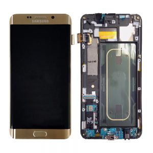Samsung Galaxy S6 Edge Plus G928 LCD Screen Service Pack Gold