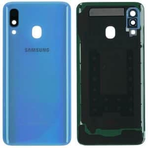 Samsung Galaxy A40 A405 blue battery back cover
