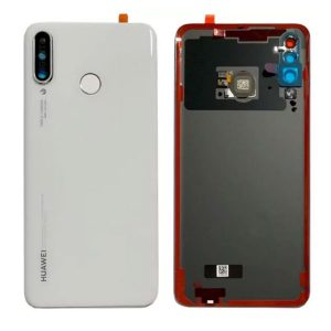 Genuine Huawei P30 Lite Battery Back Cover With Finger Print Sensor Pearl White